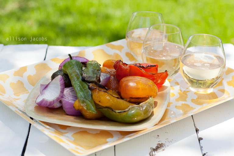 grilled vegetables with olive oil dressing