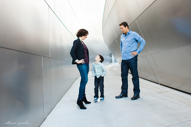 family session at disney concert hall in los angeles by allison jacobs