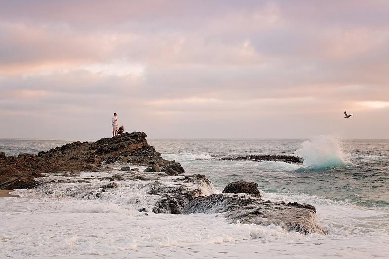 sunset in laguna beach California on the rocks